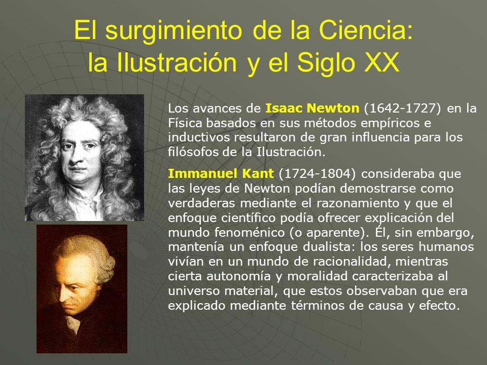 El surgimiento de la Ciencia: la Ilustración y el Siglo XX