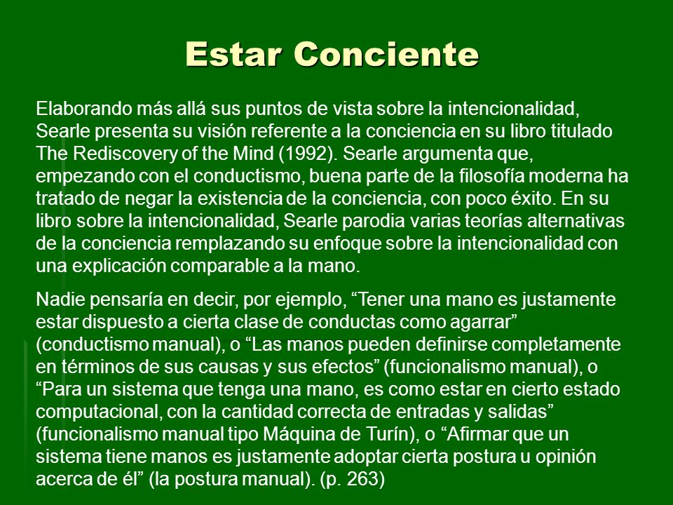 Estar Conciente
