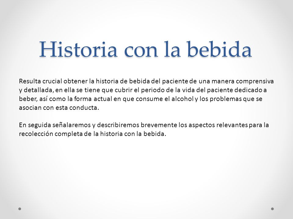 Historia con la bebida