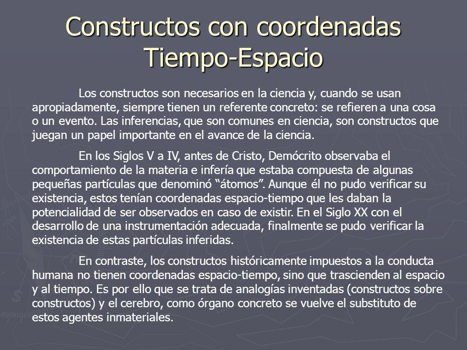 Constructos con coordenadas Tiempo-Espacio