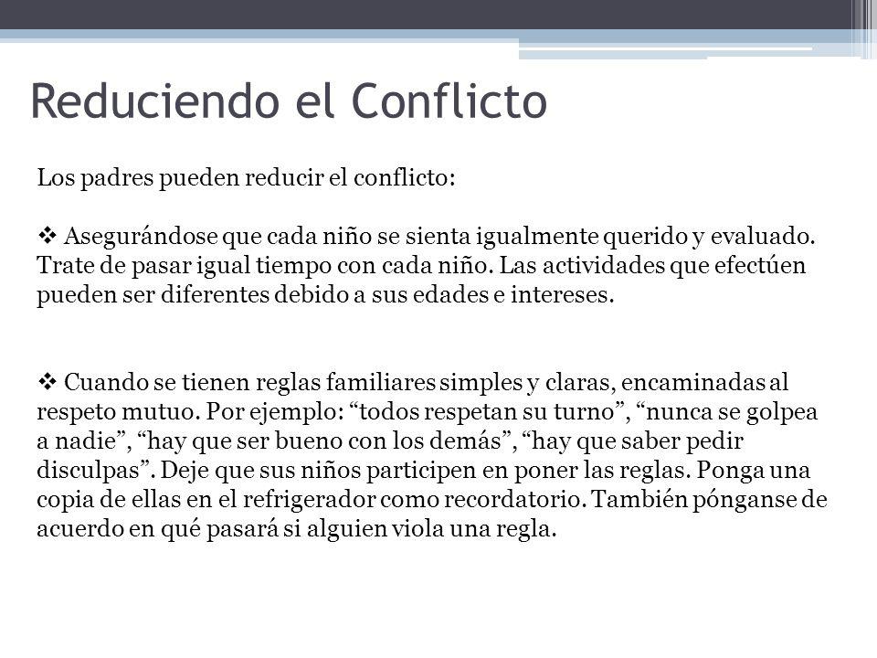 Reduciendo el Conflicto
