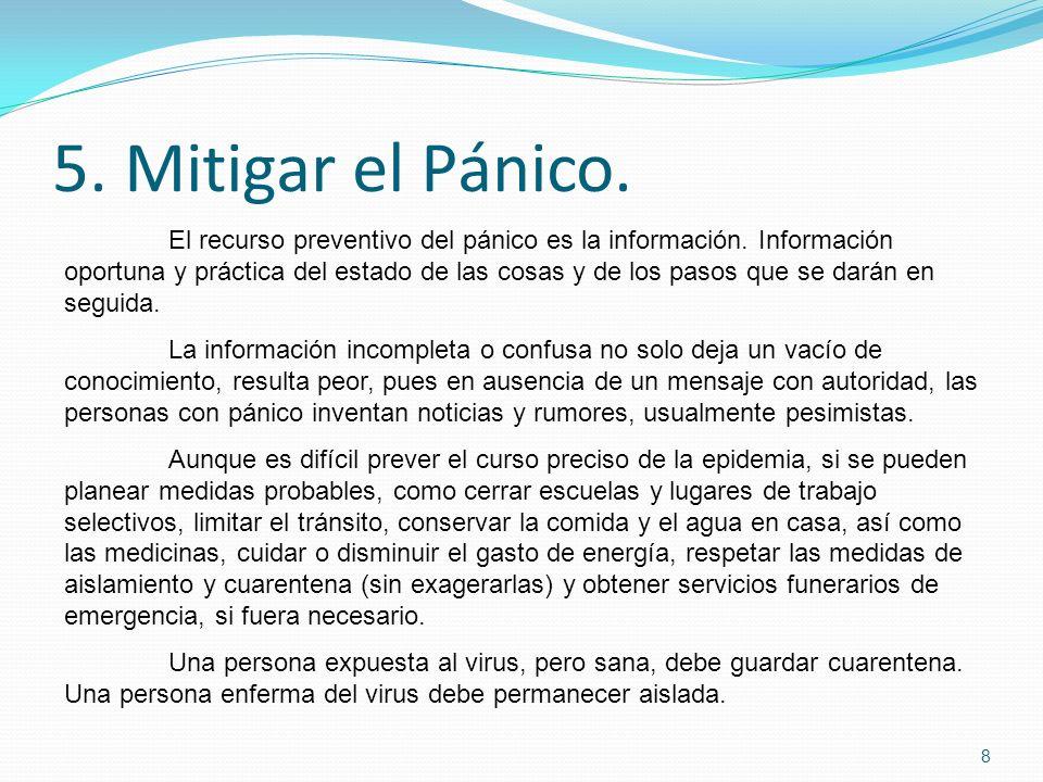 5. Mitigar el Pánico.