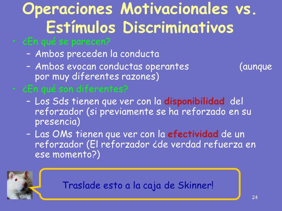 Operaciones Motivacionales vs. Estímulos Discriminativos