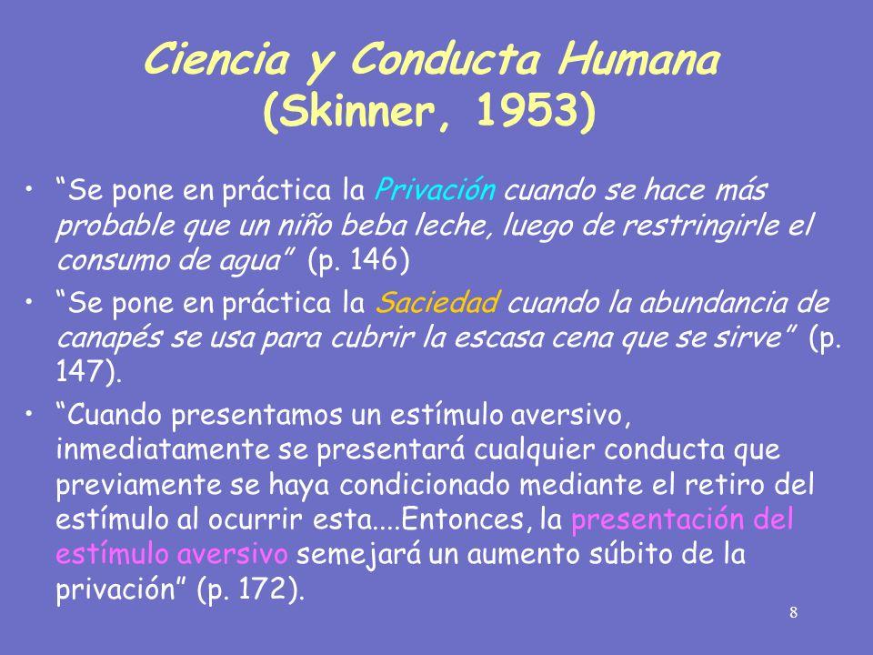 Ciencia y Conducta Humana (Skinner, 1953)