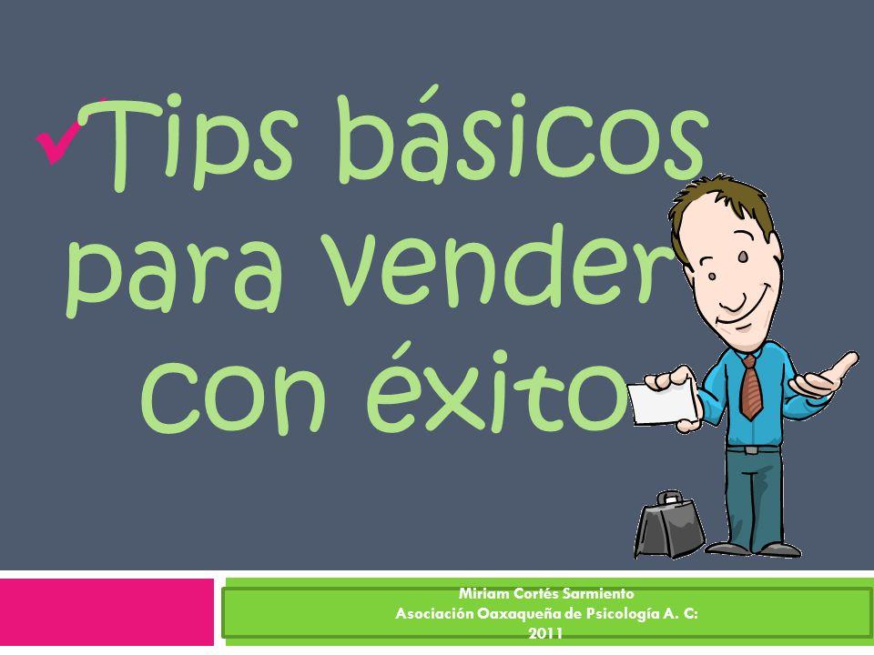 Tips básicos para vender con éxito