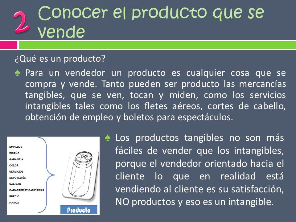 Conocer el producto que se vende
