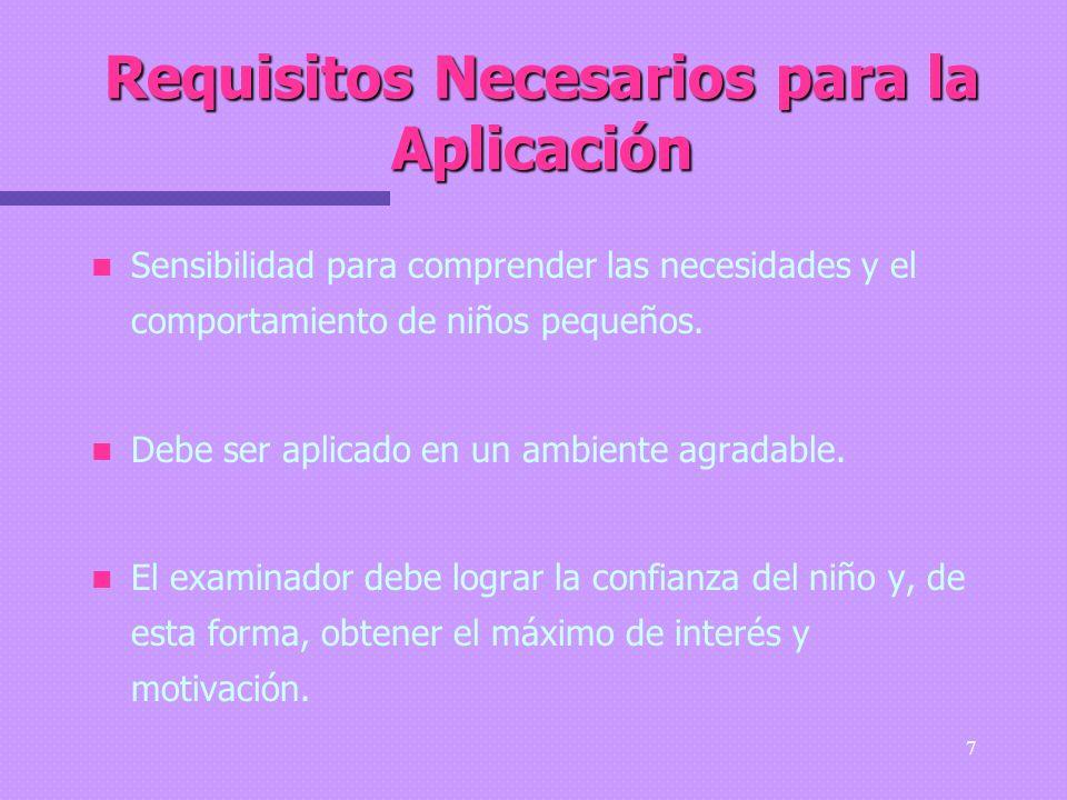 Requisitos Necesarios para la Aplicación