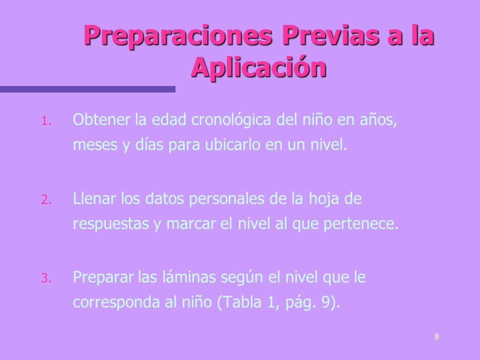 Preparaciones Previas a la Aplicación