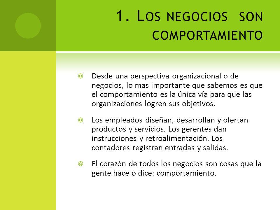 1. Los negocios son comportamiento