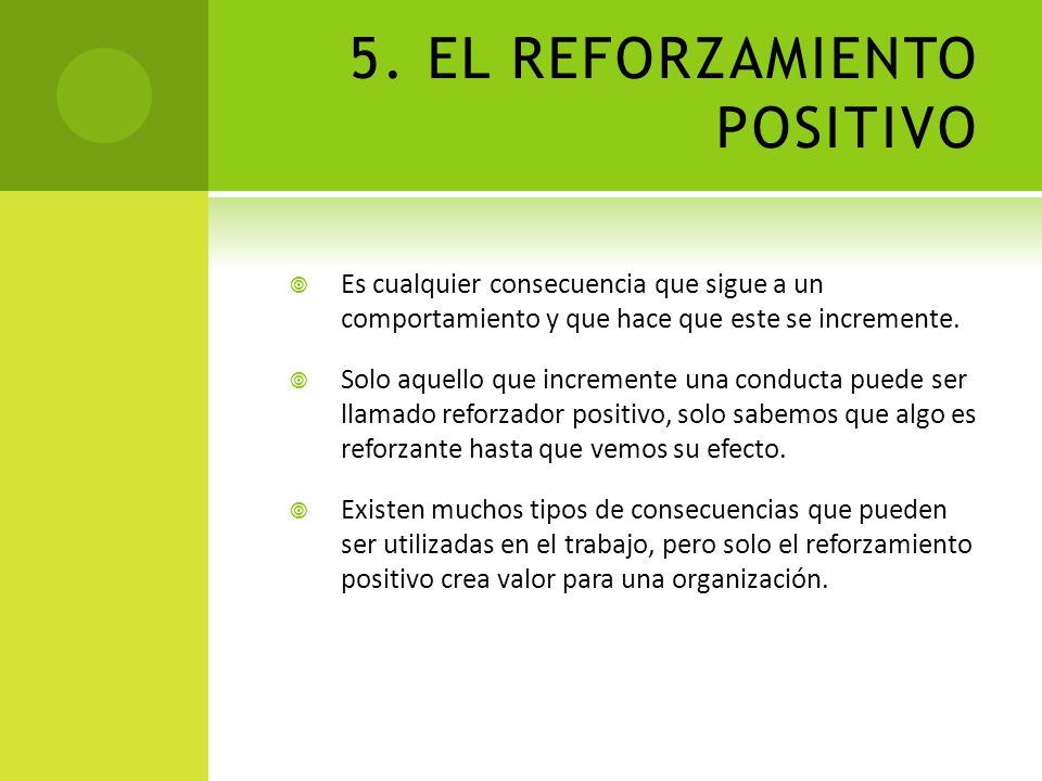 5. EL REFORZAMIENTO POSITIVO
