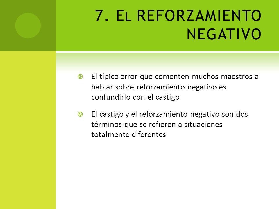 7. El REFORZAMIENTO NEGATIVO