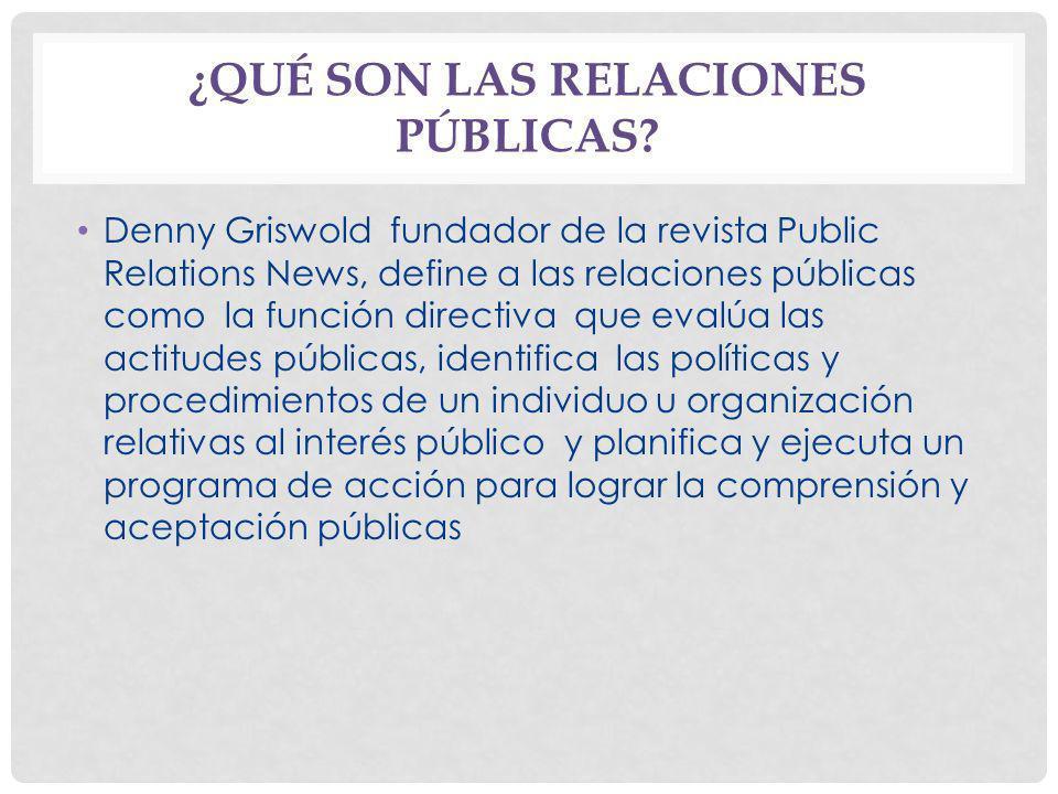 ¿Qué son las relaciones públicas