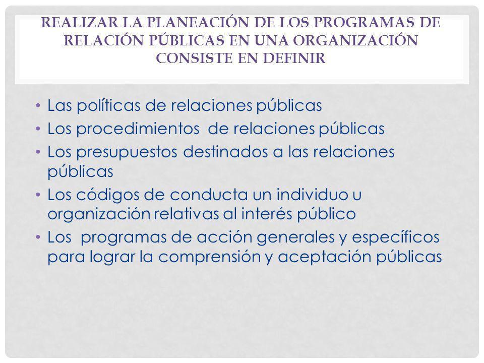 Las políticas de relaciones públicas