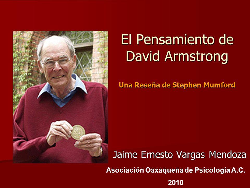 El Pensamiento de David Armstrong Una Reseña de Stephen Mumford