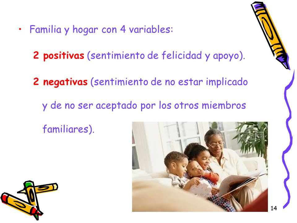 Familia y hogar con 4 variables:
