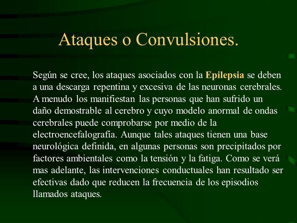 Ataques o Convulsiones.