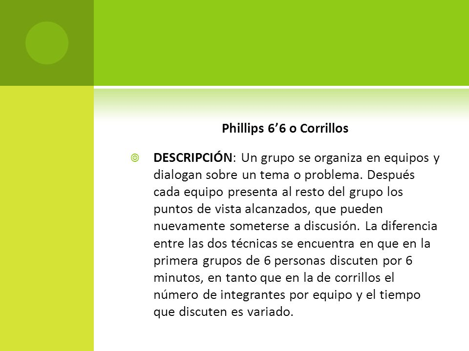 Phillips 6'6 o Corrillos