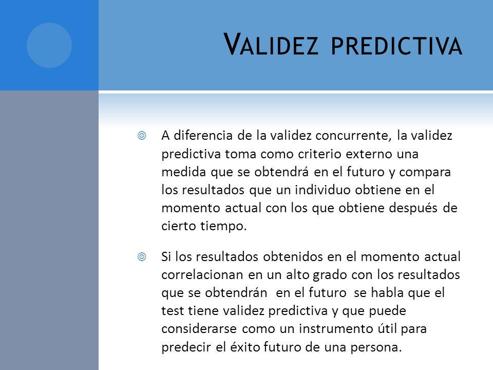 Validez predictiva