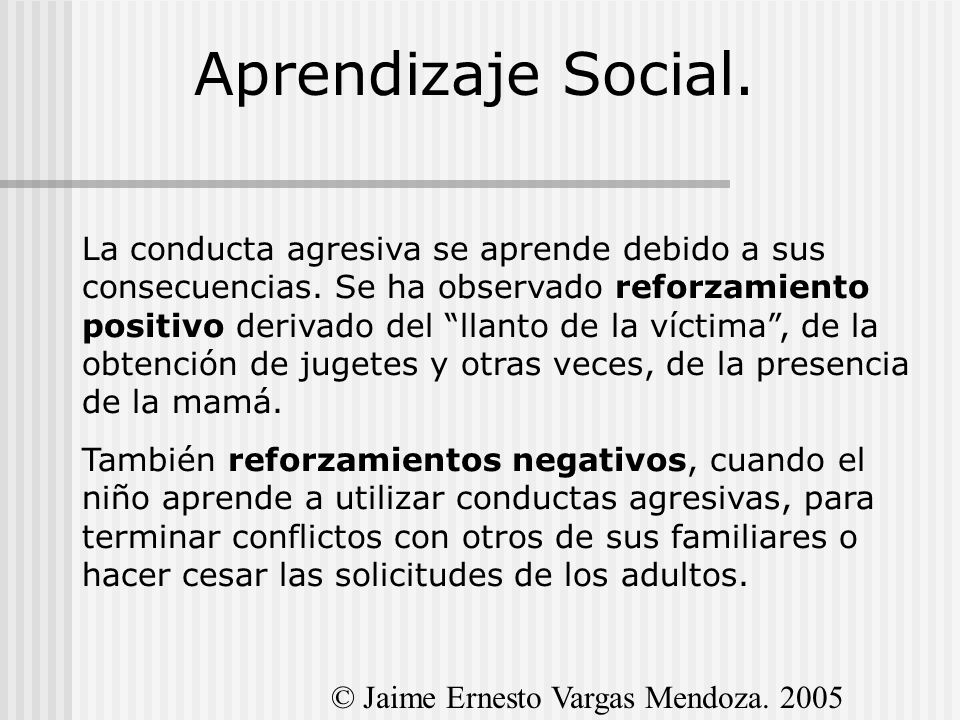 Aprendizaje Social.