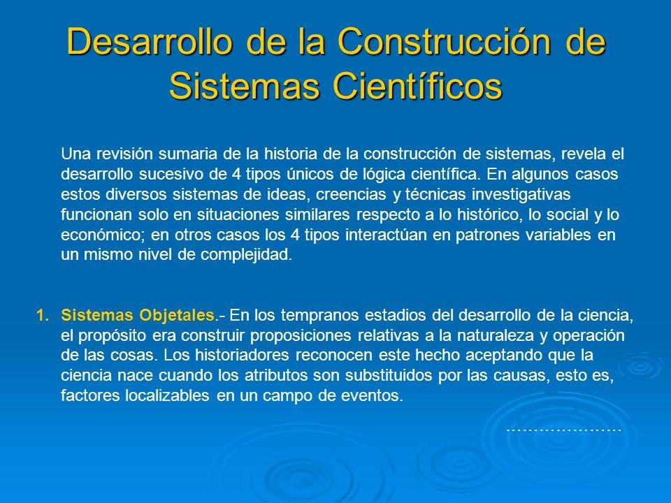 Desarrollo de la Construcción de Sistemas Científicos