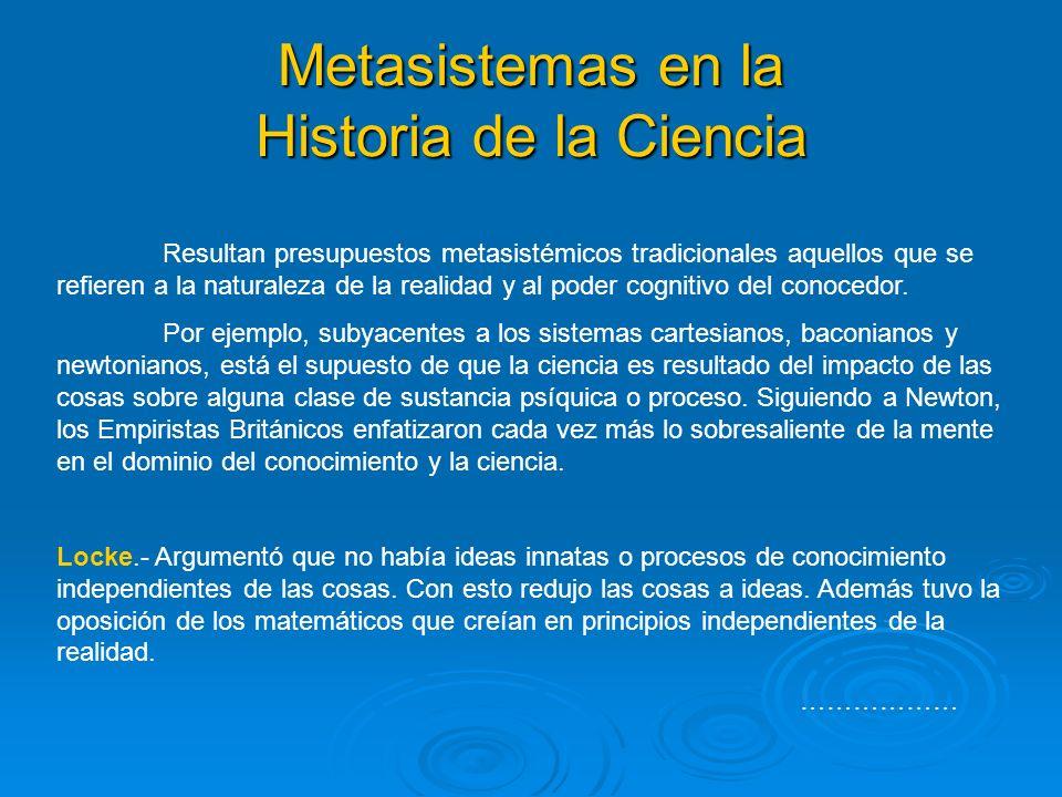 Metasistemas en la Historia de la Ciencia