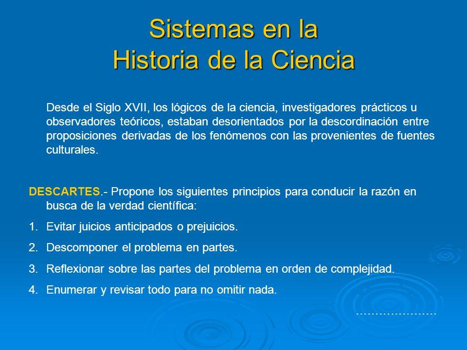 Sistemas en la Historia de la Ciencia