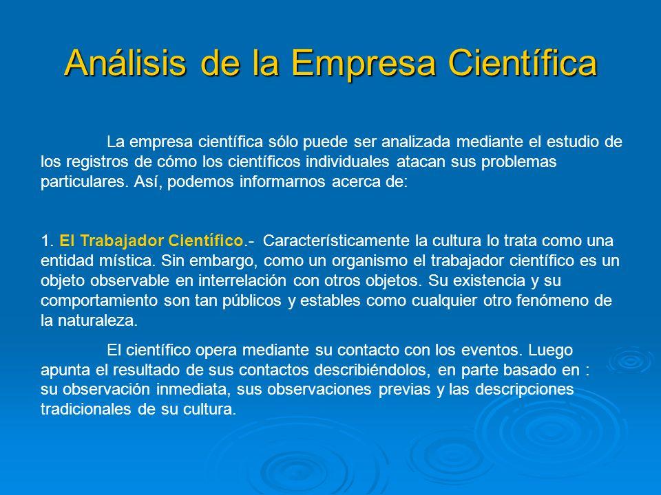 Análisis de la Empresa Científica
