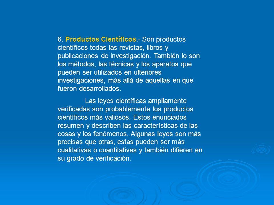 6. Productos Científicos