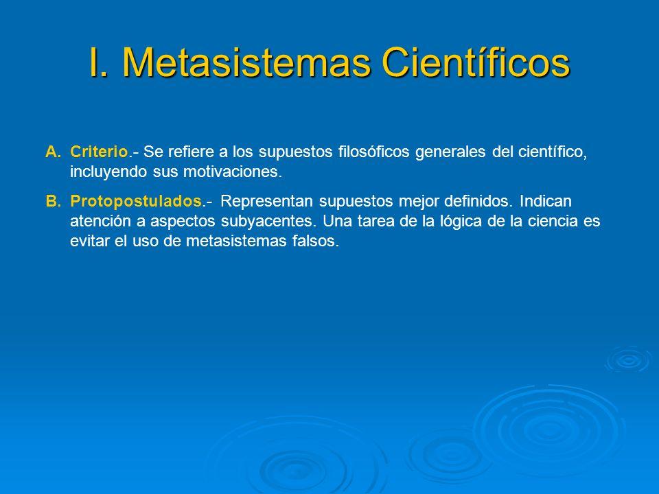 I. Metasistemas Científicos