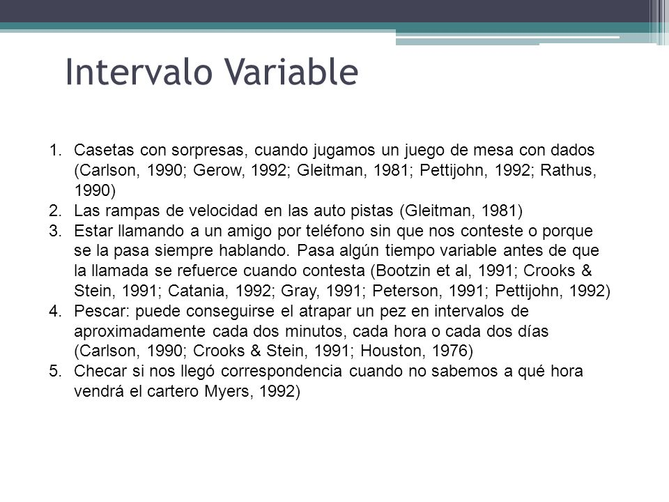 Intervalo Variable