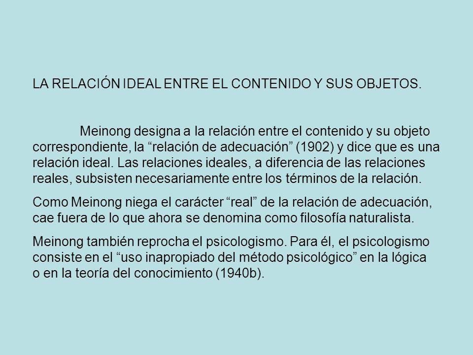 LA RELACIÓN IDEAL ENTRE EL CONTENIDO Y SUS OBJETOS.