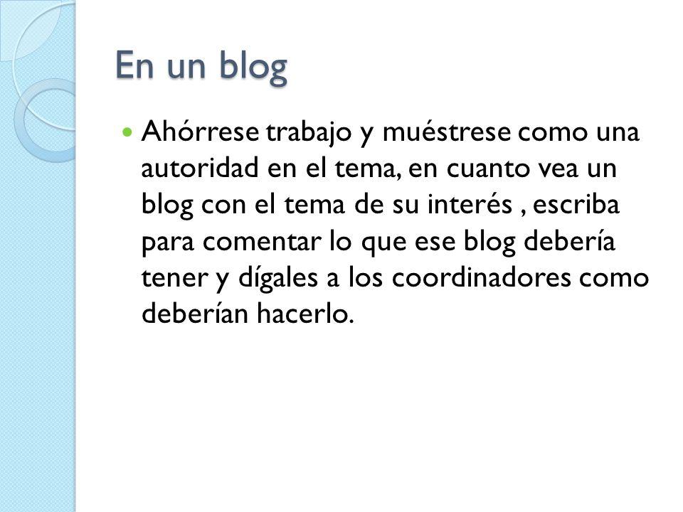 En un blog