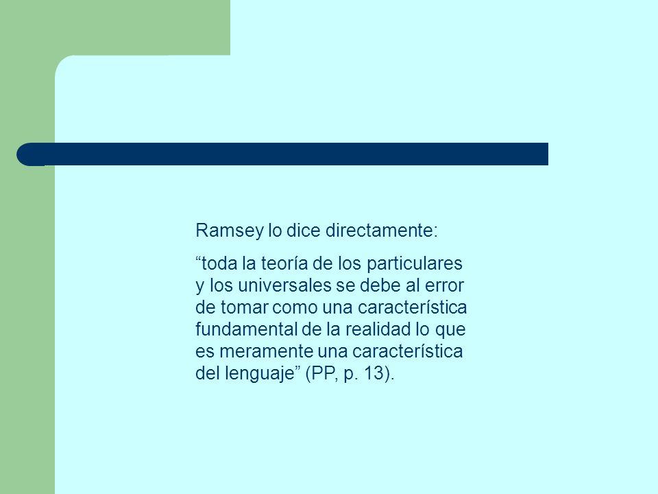 Ramsey lo dice directamente: