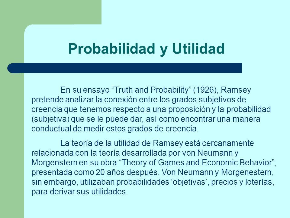 Probabilidad y Utilidad