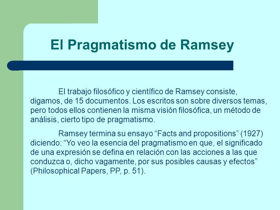 El Pragmatismo de Ramsey