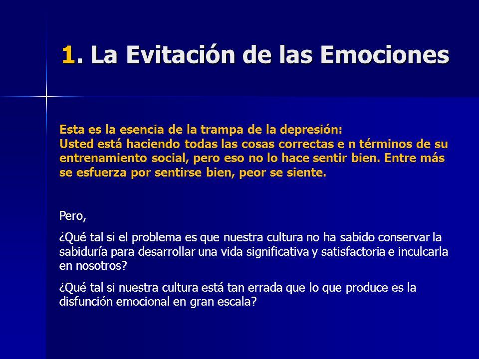 1. La Evitación de las Emociones