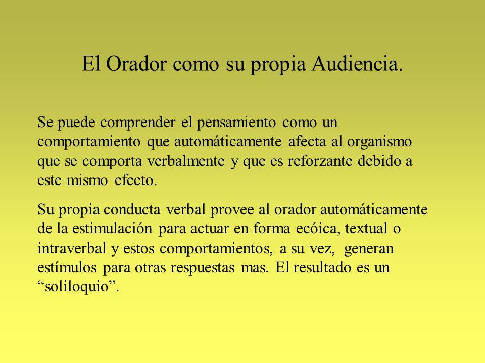 El Orador como su propia Audiencia.
