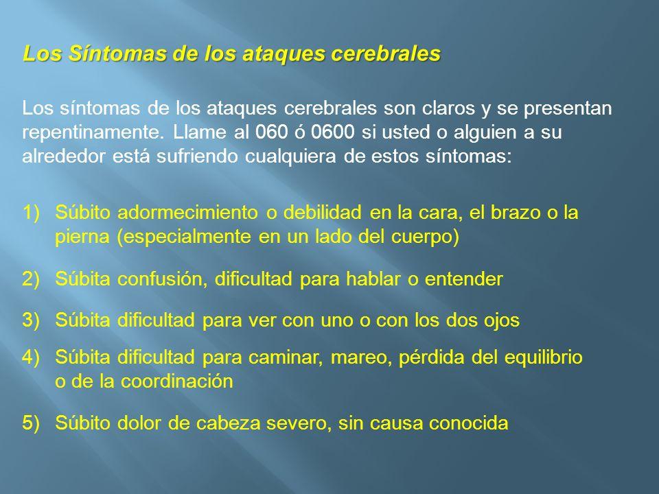 Los Síntomas de los ataques cerebrales