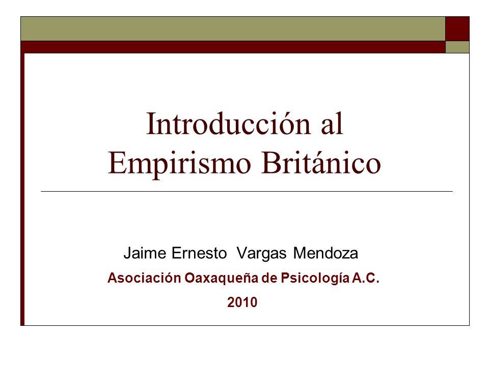 Introducción al Empirismo Británico