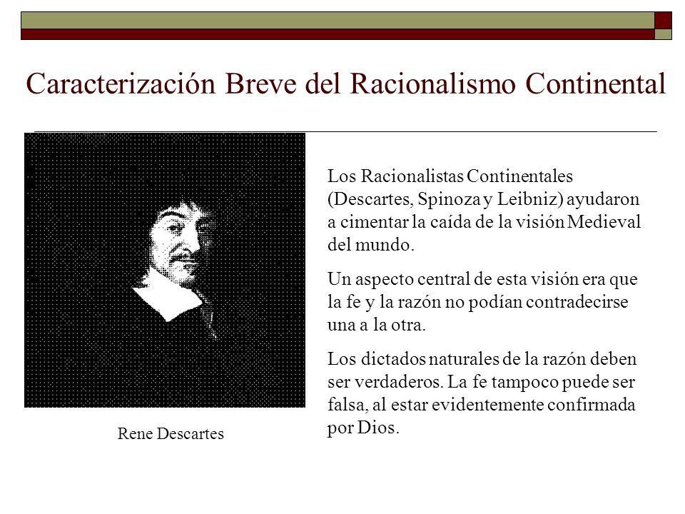 Caracterización Breve del Racionalismo Continental