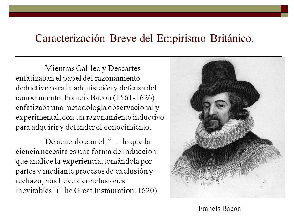 Caracterización Breve del Empirismo Británico.