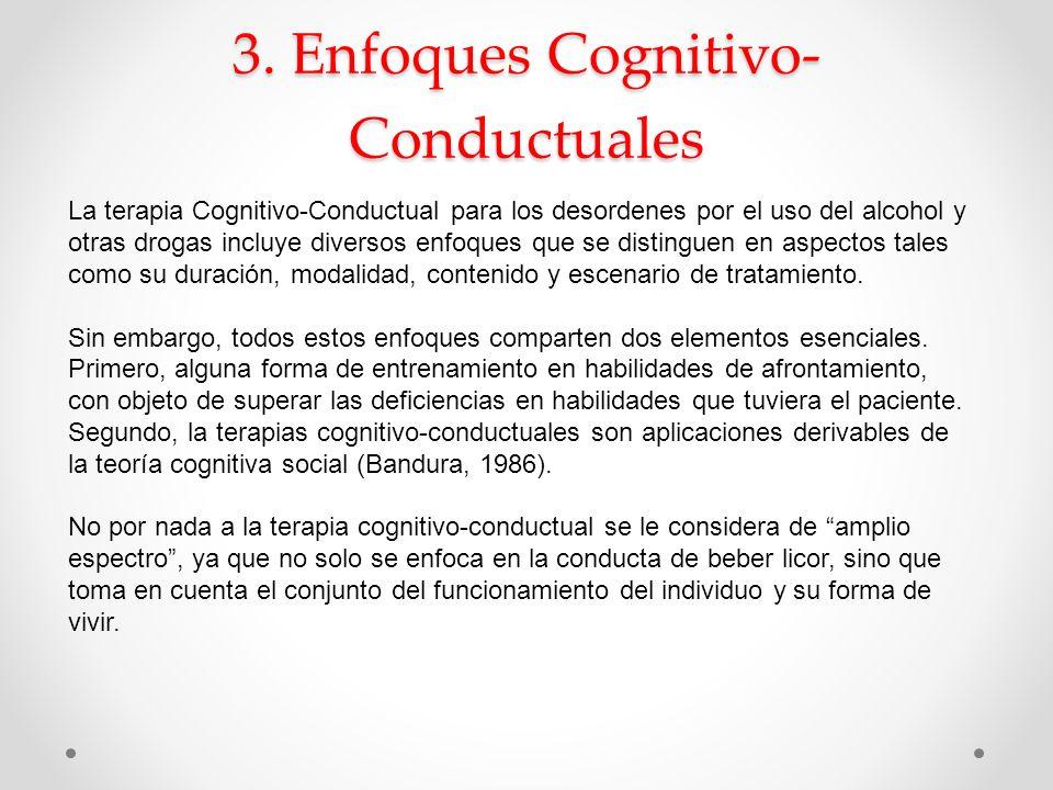 3. Enfoques Cognitivo-Conductuales
