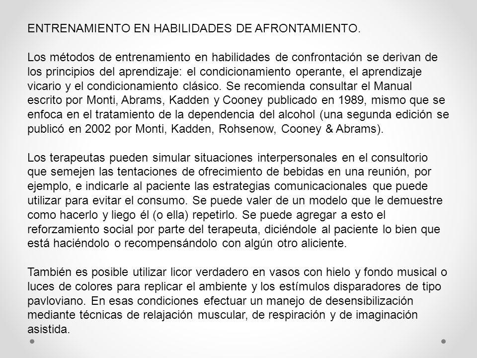 ENTRENAMIENTO EN HABILIDADES DE AFRONTAMIENTO.