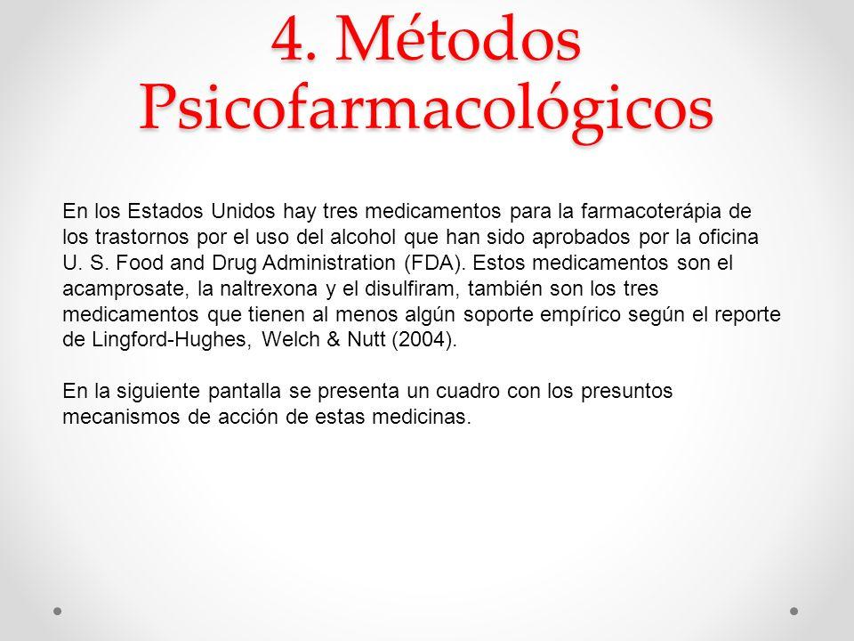 4. Métodos Psicofarmacológicos