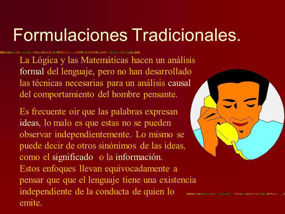 Formulaciones Tradicionales.