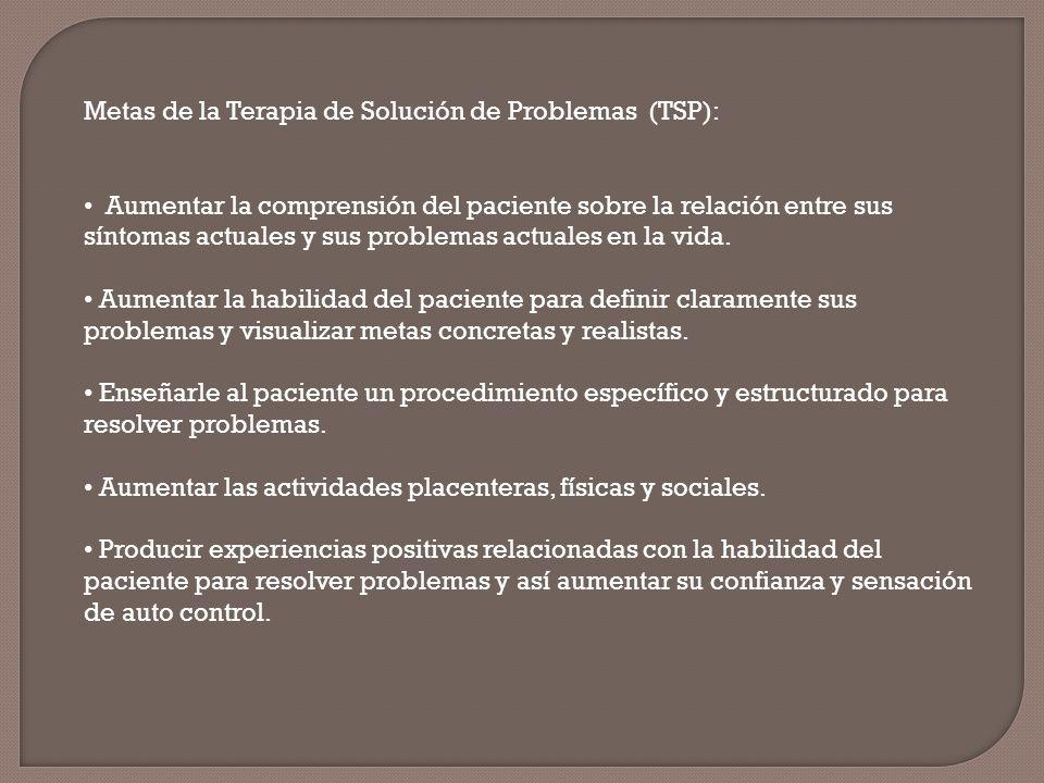 Metas de la Terapia de Solución de Problemas (TSP):