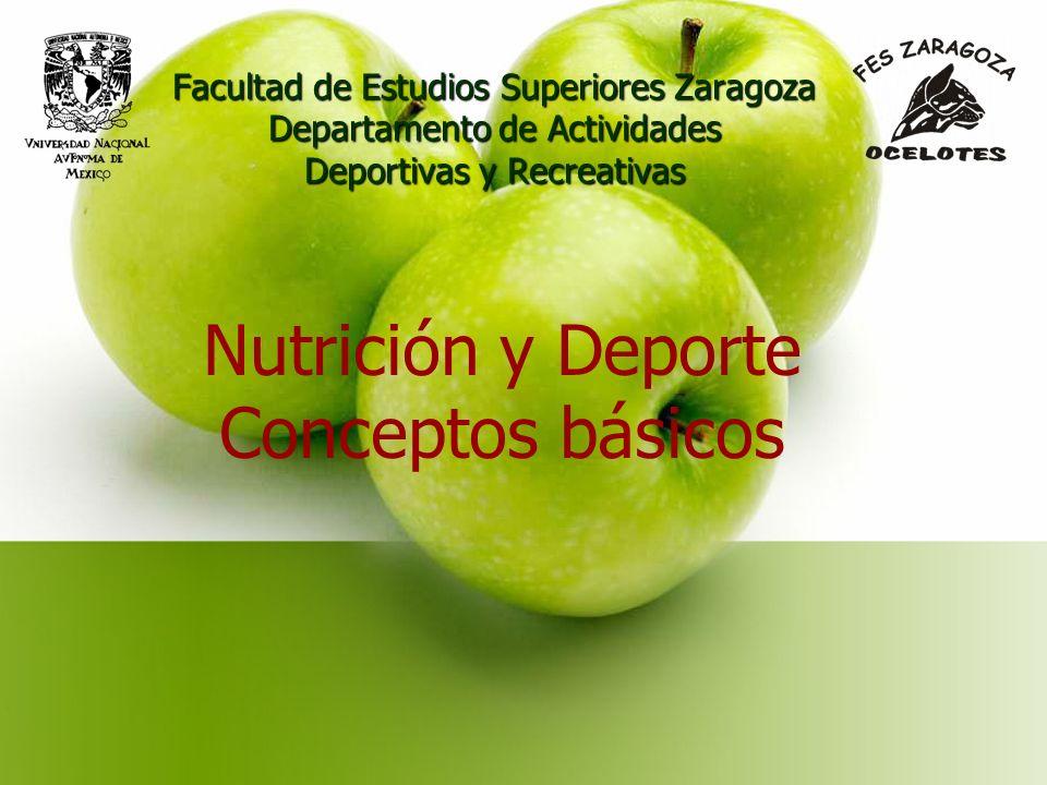 Nutrición y Deporte Conceptos básicos