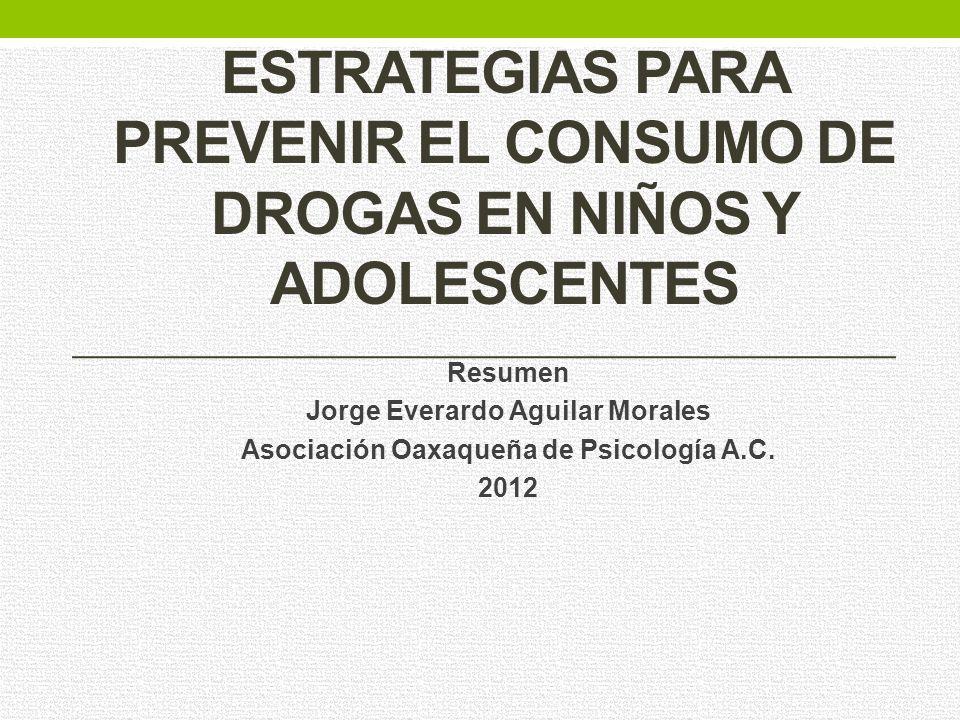 Estrategias para prevenir el consumo de drogas en niños y adolescentes