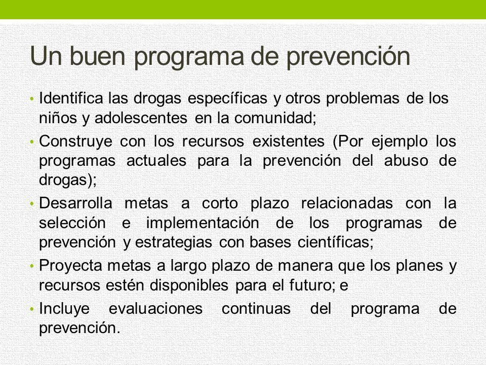 Un buen programa de prevención