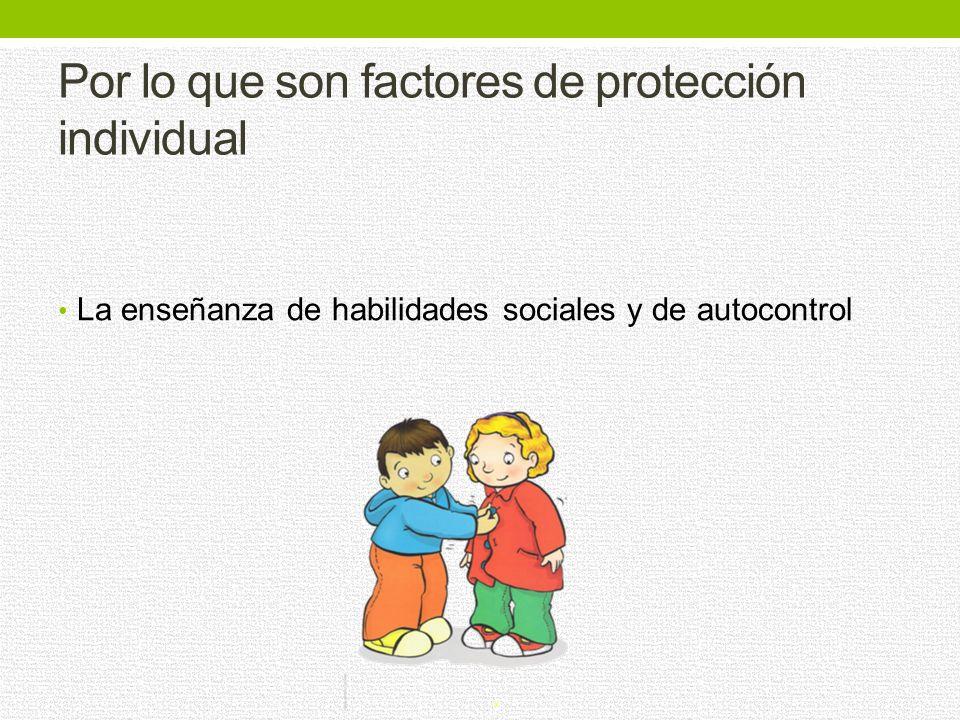 Por lo que son factores de protección individual